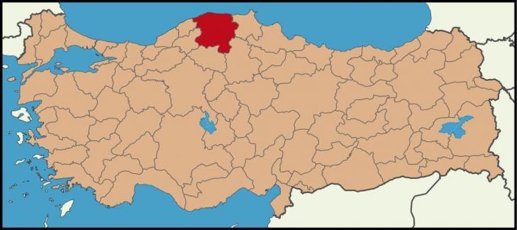 Kahintepe turkey location kastamonu