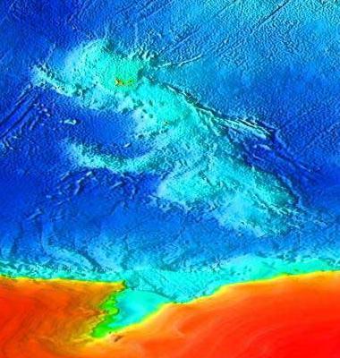 Kerguelen plateau topography