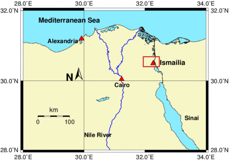 Location of ismailia in egypt