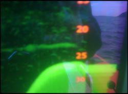 Loch ness monster sonar image