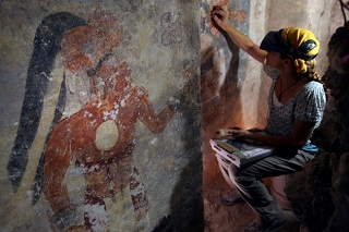 Maya zultun 850ad guatemala mini