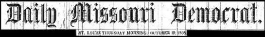 Missouri democrat 10 19 1865 heading on black 1