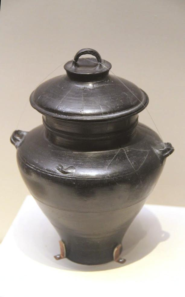 Neolithic pottery jar longshan culture shandong 1975
