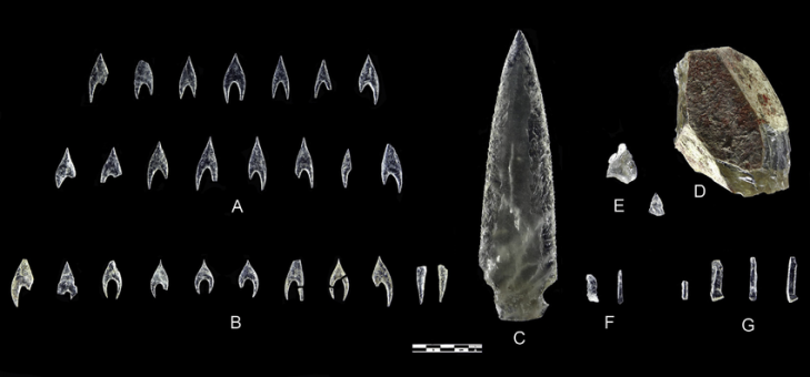 Objects studied in this paper a ontiveros arrowheads b montelirio tholos arrowheads