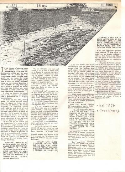 Ovni hulluch 31 12 1973