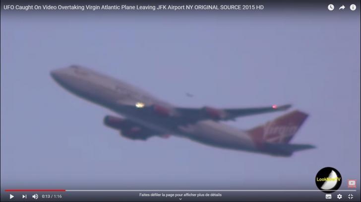 Ovni ufo depassant un avion jfknyork 4 8 2015a