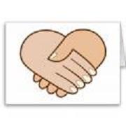 Poignee de main coeur 1