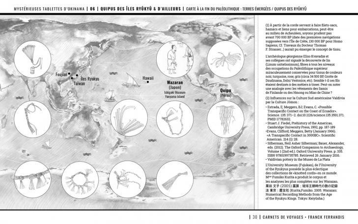 Quipus transoceaniques merdujapon corees perou polynesie