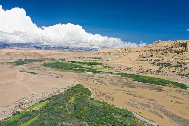 Qulong dans le comte de zanda prefecture de ngar sud ouest de la region autonome du tibet