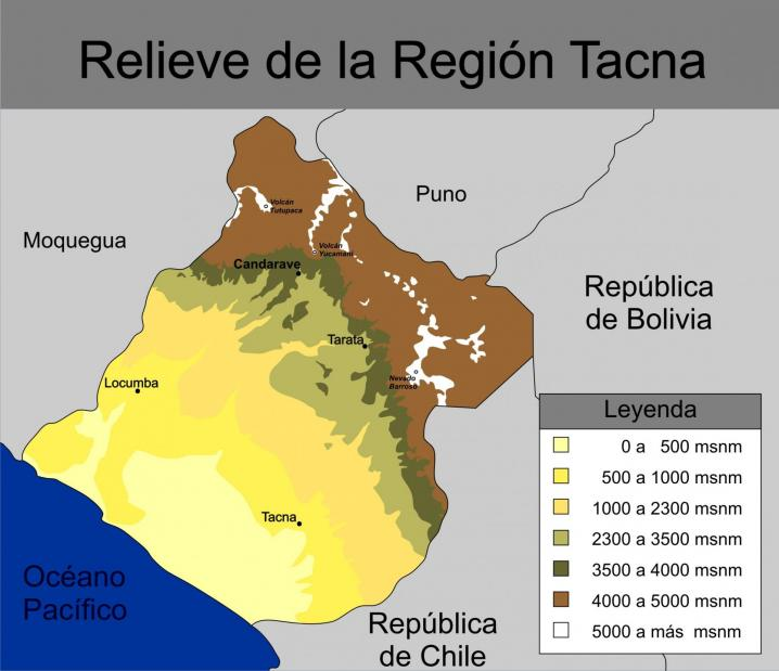 Relieve region tacna