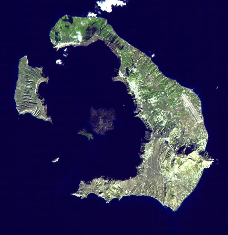 Santorini landsat