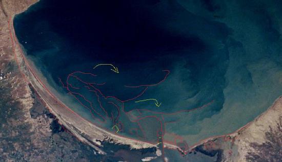 Satellite image photo maracaibo city lake area venezuela zoom2