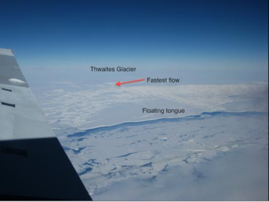 Thwaitesglacier antarctique