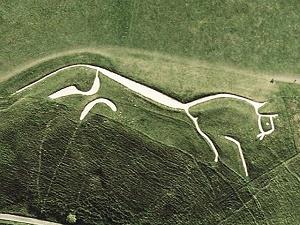 Uffington white horse sat mini