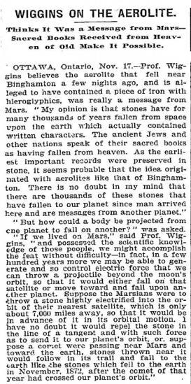 Wiggins on the aerolite new york times 11 18 1898